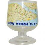 NYC Map Brandy Glass
