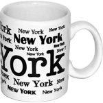 """New York """"Scattered"""" White 4oz Mini Mug"""