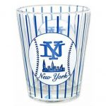 NY Baseball Pinstripe Clear Shotglass