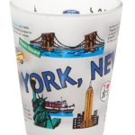 NYC Icons Collage Frosted Shot Glass
