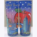 NYC Icons Hand Painted Shooter Glass