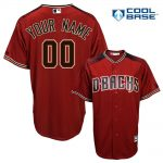 Arizona Diamondbacks Replica Personalized Red Alt Jersey
