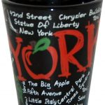 NYC Scribble Black Shot Glass
