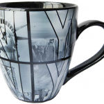 Black B&W NY Photo Window Letters Belly Mug