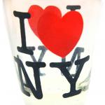 Mini Clear I Love NY Shot Glass