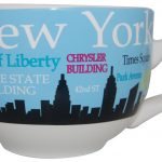 NYC Landmarks Skyline Soup Mug – Lt Blue
