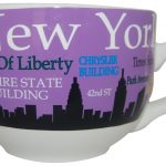 NYC Landmarks Skyline Soup Mug – Purple