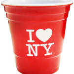 I Love NY Red Party Shot Glass with White Imprint
