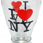 Clear I Love NY Beer Shot Glass