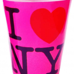 I Love NY Hot Pink Shot Glass