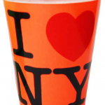 I Love NY Neon Orange Shot Glass