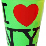 I Love NY Neon Green Shot Glass