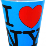 I Love NY Neon Blue Shot Glass