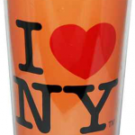 I Love NY Neon Orange Travel Mug