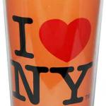I Love NY Neon Orange Travel Mug