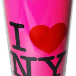 I Love NY Neon Pink Travel Mug