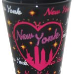 NY Bedazzled Black Skyline Shot Glass