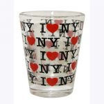 I Love NY Repeat Clear Shot Glass