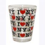 I Love NY Repeat Clear Shot Glass