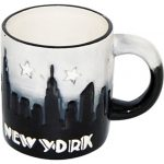 "NYC ""Grey Skyline"" Hand Painted 4oz. Mini Mug"
