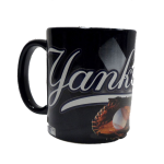 NY Yankees Metallic Baseball Mug
