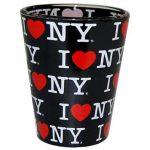 I Love NY Repeat Black Shotglass