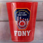 FDNY White/ Red Clear Shield Shot Glass 3PC Set