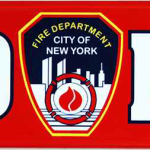 FDNY Red Panoramic Postcard Magnet