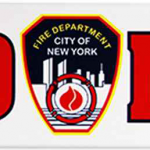 FDNY White Panoramic Postcard Magnet