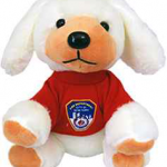 FDNY White Plush Puppy in Red/ Logo T- Shirt