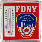 FDNY Red Thermometer Magnet