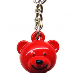FDNY Red/ Logo Bear Key Ring
