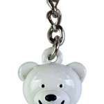 FDNY White/ Logo Bear Key Ring