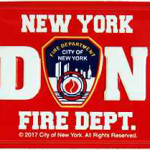 FDNY Red Tin License Plate Magnet