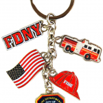 FDNY Dangle Key Ring with Charms