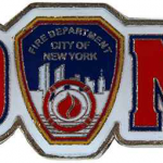 FDNY Red Logo Metal Magnet