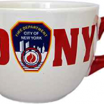 FDNY White/Red Handle Soup Mug