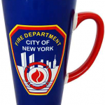 FDNY Blue/ Red Handle Java Mug