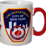 FDNY White/Red Handle Mini Mug