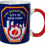FDNY Blue/Red Handle Mini Mug