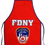 FDNY Red with Blue Piping Apron