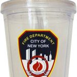 FDNY Shield Clear Tumbler