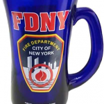 FDNY Cobalt Blue Shield/Logo Beer Mug