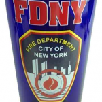 FDNY Cobalt Blue Shield/Logo Beer Glass