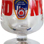 FDNY Clear Logo/ Shield Brandy Glass