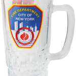 FDNY Clear with Logo/ Shield Beer Mug