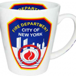 FDNY White All Over Printed Java Mug