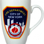 FDNY White Logo/ Shield Slim Java Mug