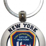 FDNY Shield Cut Out Key Ring