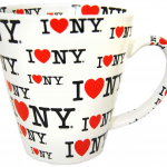 I Love NY White/ White Inside Full Print All Over Java Mug